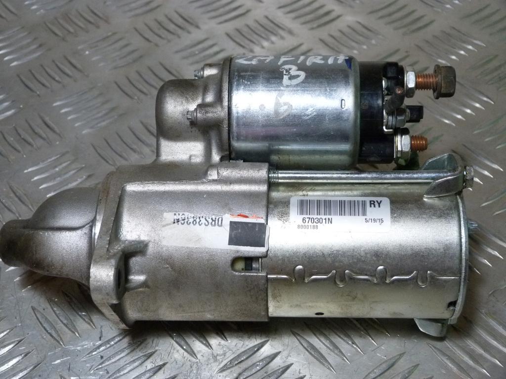 Štartér Opel Zafira B 1.6 benzin 9zubov