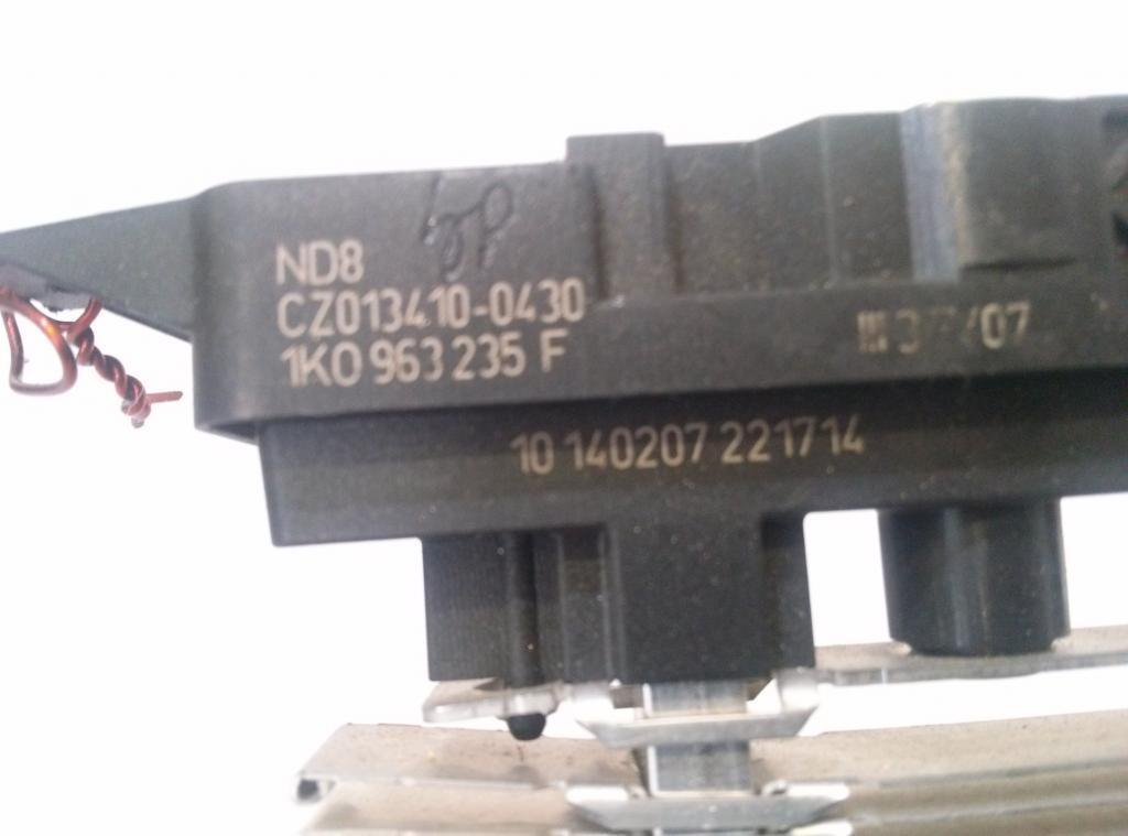 Výhrevné teleso, radiátor kúrenia elektrický  Škoda Octavia II  1. 9TDI 77kW  2004- 2008, 1K0963235F