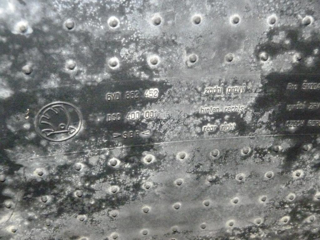 Koberčeky, rohože zadné (pravá, ľavá) Škoda Fabia Combi I r.v. 99-08  6y0862452  6y0862451