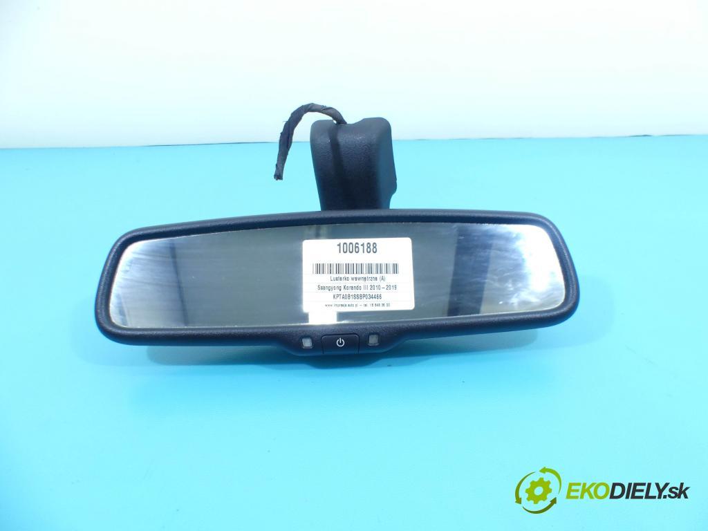 Ssangyong Korando III 2010-2019 2.0 D 175 HP automatic 129 kW 1998 cm3 5- zrkadlo uvnitř:  (Spätné zrkadlá vnútorné)
