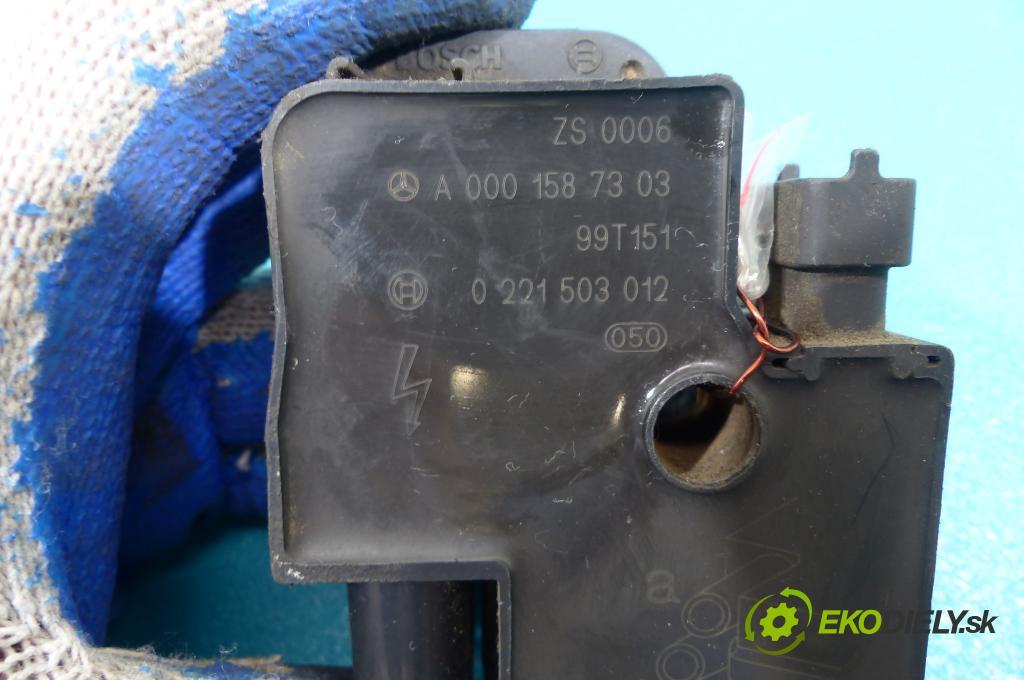 Mercedes E W210 1995-2002 2.4 V6 - 170 HP manual 125 kW 2398 cm3  Cievka zapaľovacia 0221503012 (Zapaľovacie cievky, moduly)