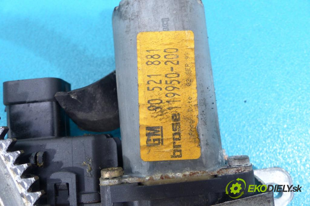 Opel Astra II 1998-2009 2.0 DTL 82 HP manual 60 kW 1995 cm3  Mechanizmus predný ľavy