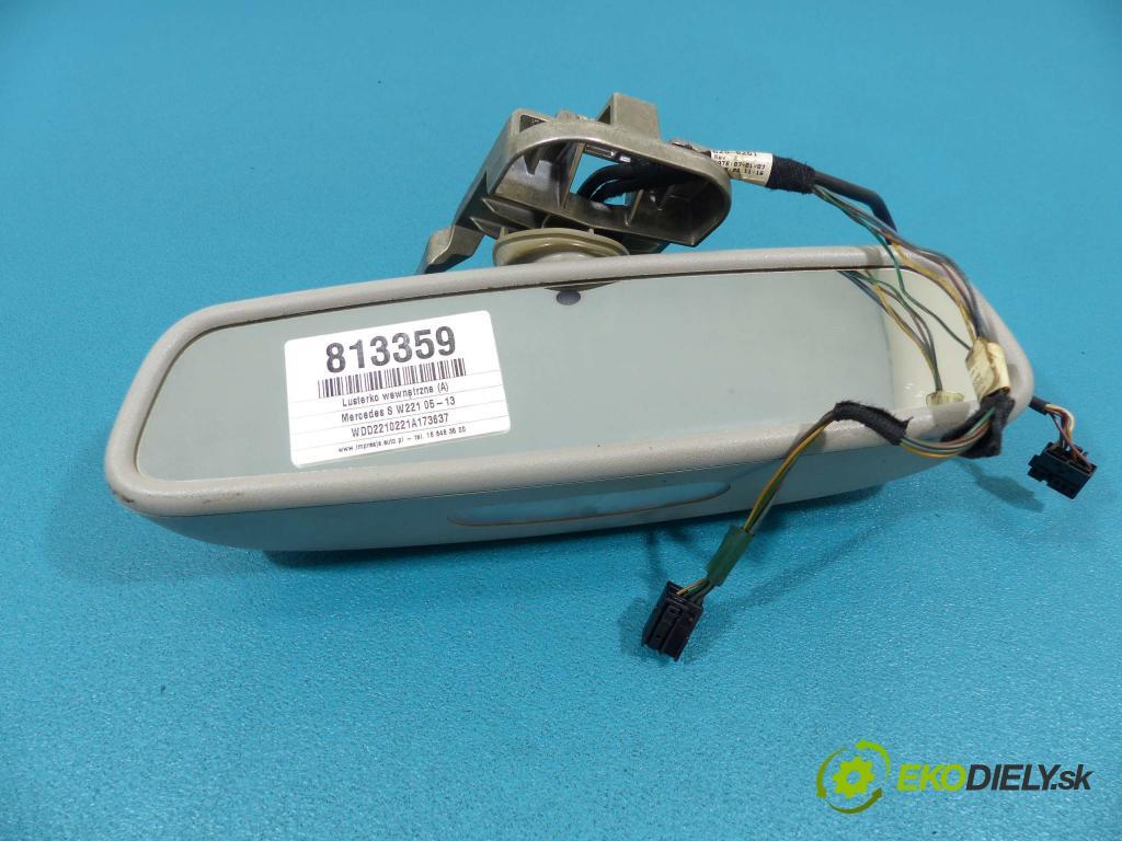 Mercedes S W221 05-13 3.0 CDI 235 HP automatic 173 kW 2987 cm3  Spätné zrkadlo vnútorné  (Spätné zrkadlá vnútorné)