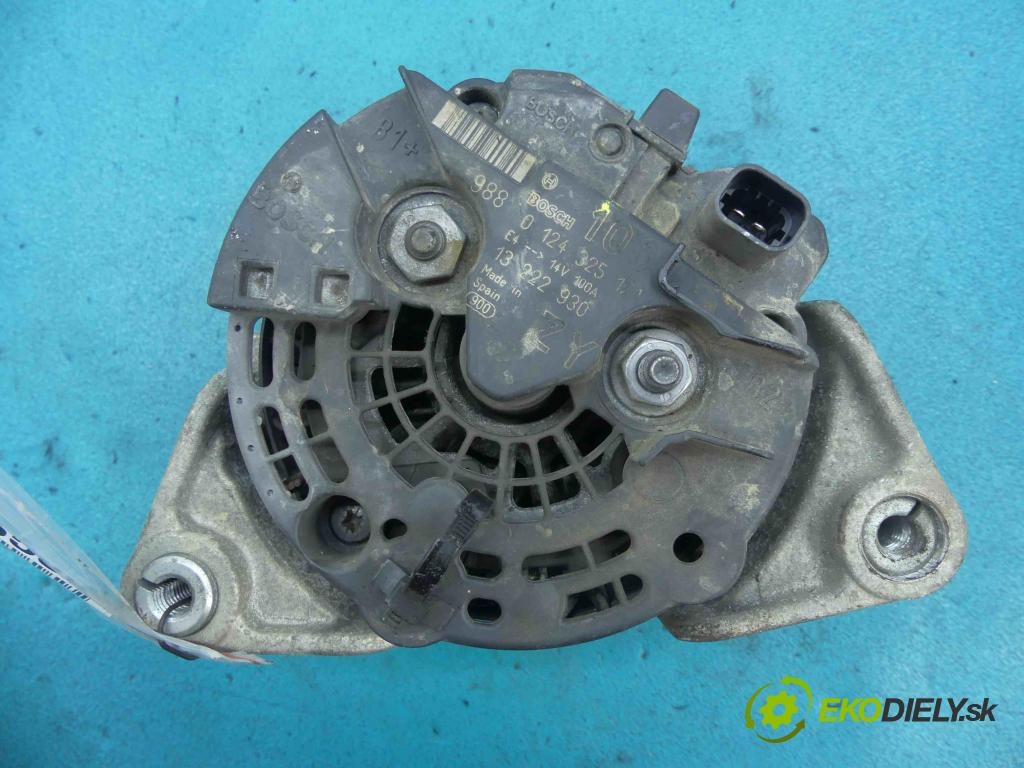 Opel Corsa D 2006-2014 1.4 16v 90 HP manual 66 kW 1364 cm3 5- Alternator 0124325171 (Alternátory)