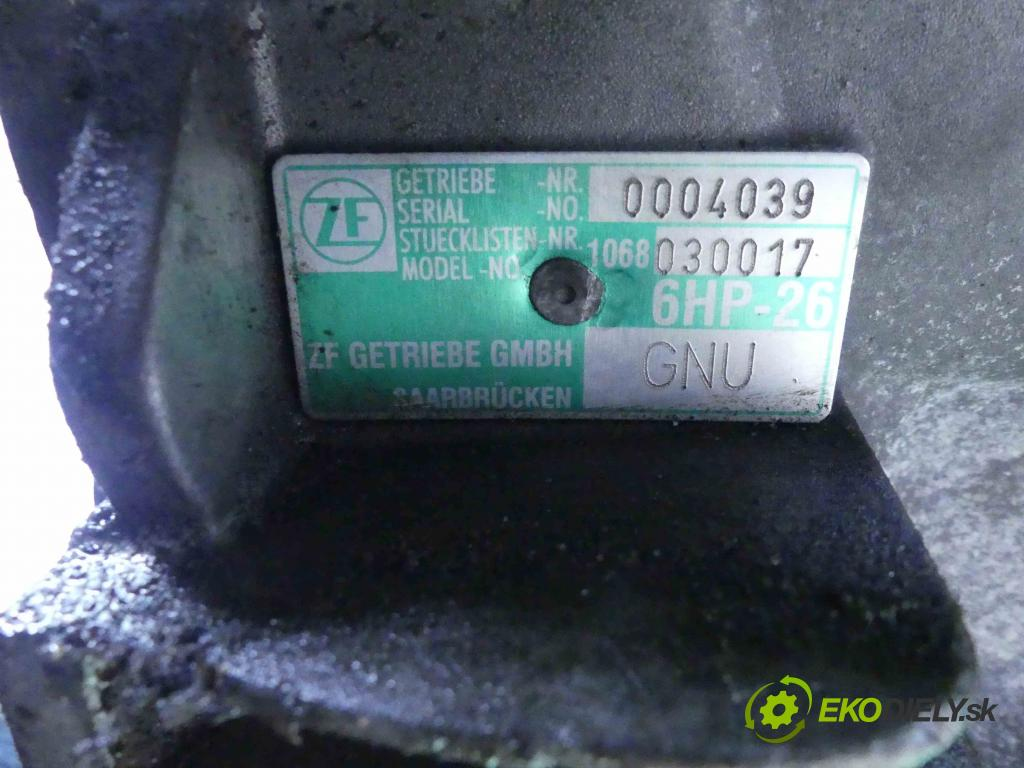 Audi A8 D3 2002-2009 4.2 V8 334KM automatic 246 kW 4172 cm3 4- převodovka stupňová automat GNU