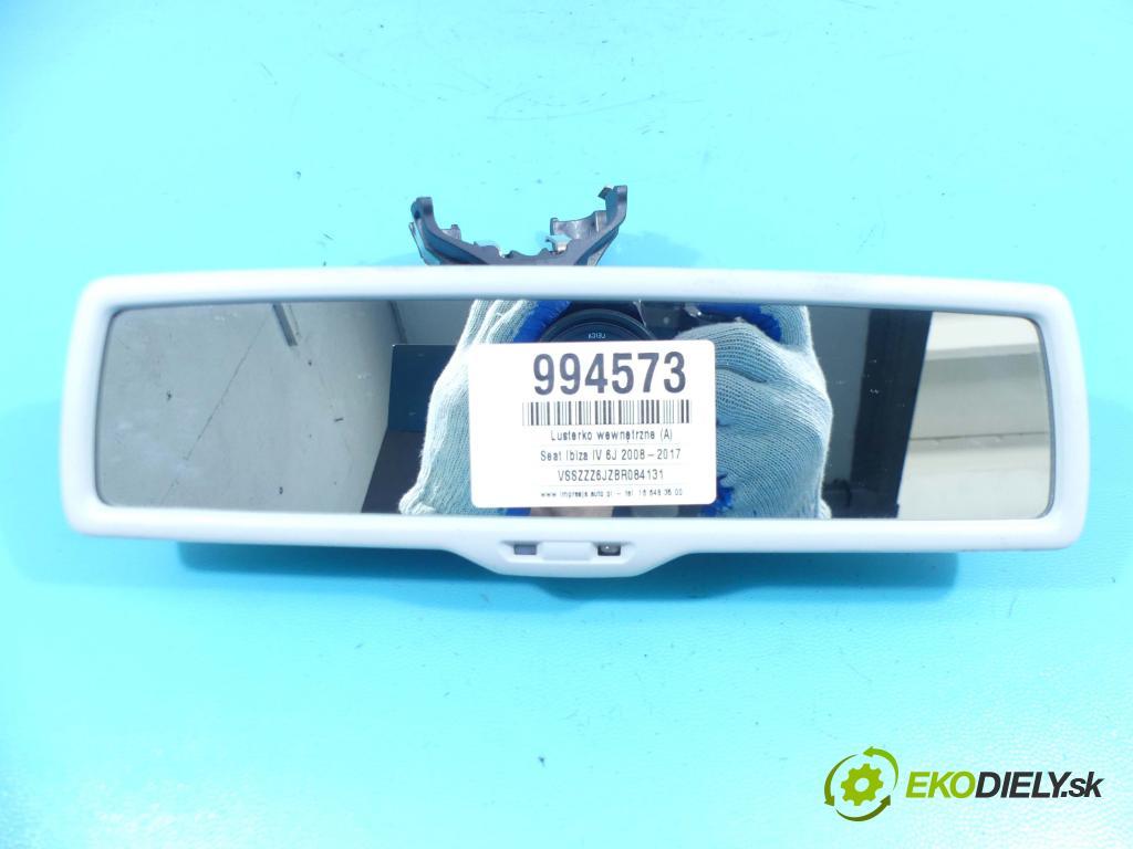 Seat Ibiza IV 6J 2008-2017 1.2 tdi 75 HP manual 55 kW 1199 cm3 5- zrkadlo uvnitř: E11026141 (Spätné zrkadlá vnútorné)
