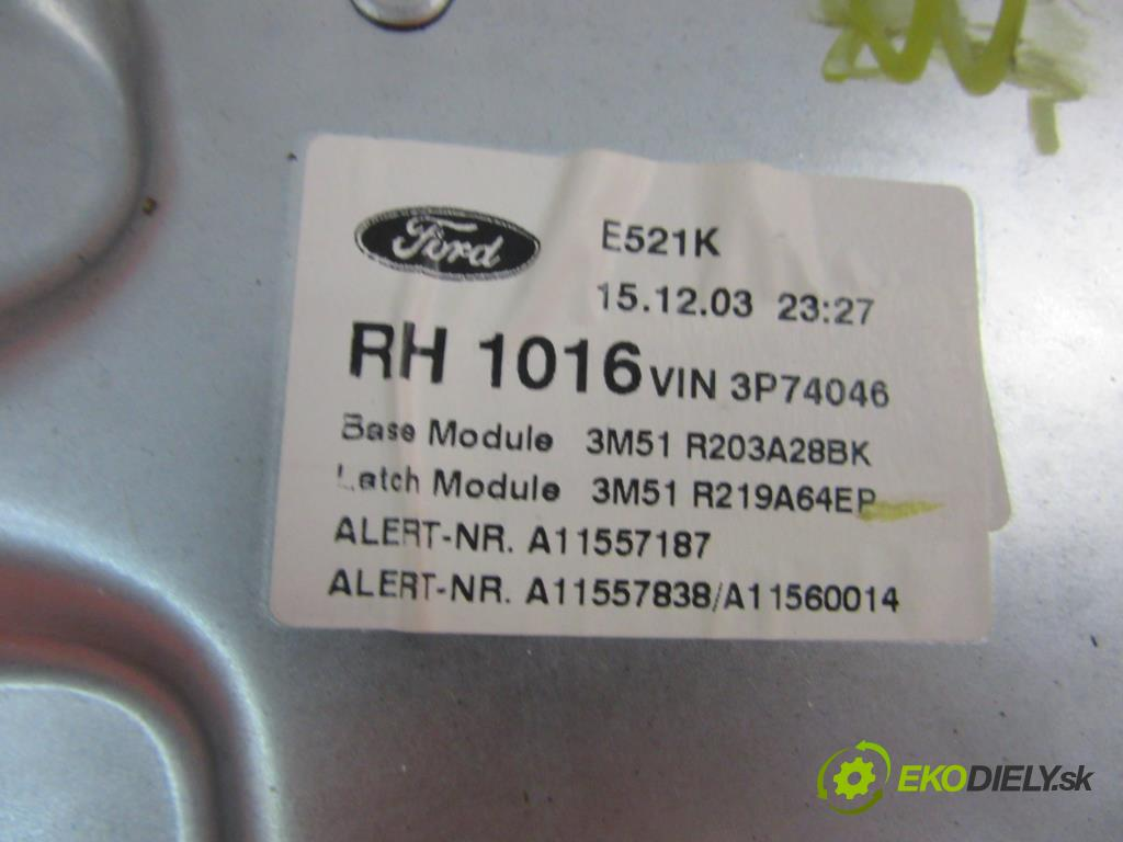 FORD C-MAX 1.6 TDCI G8DA, G8DD, G8DB   80 kW 109 km  Mechanizmus okien - RH994757103 (Mechanizmy sťahovania okna)
