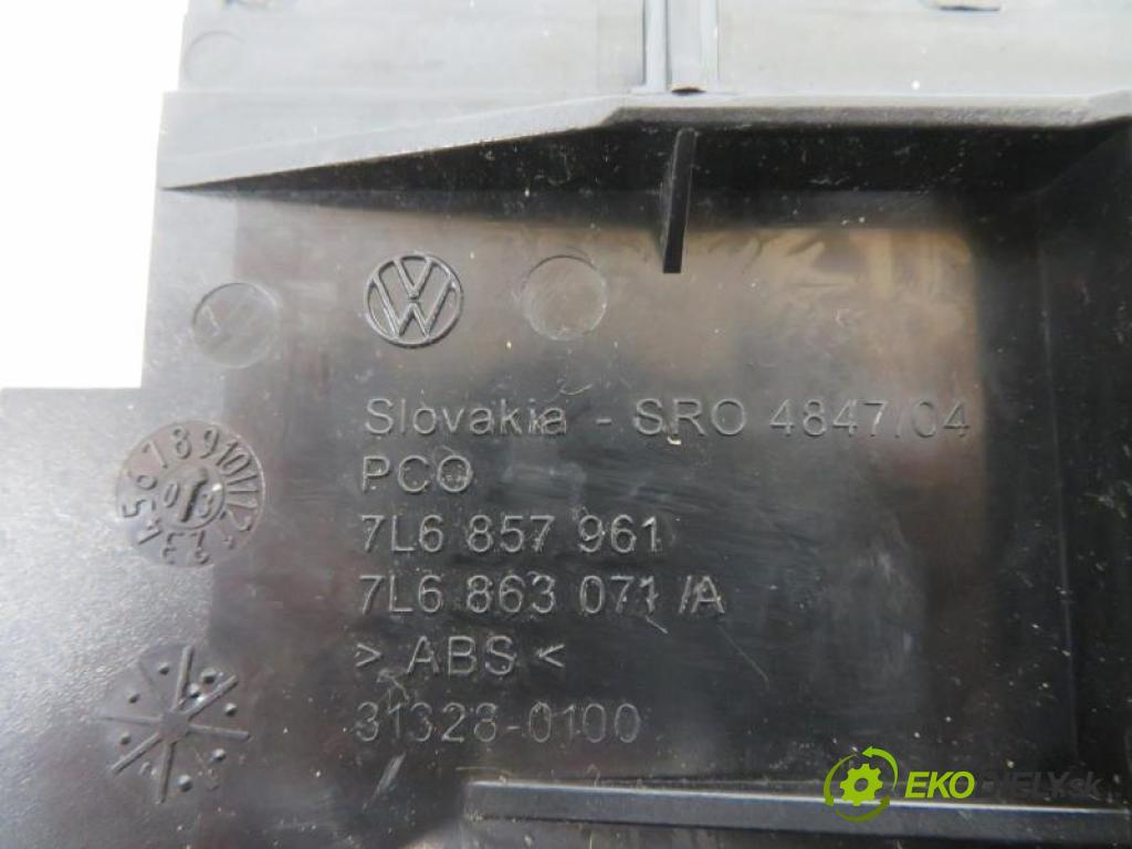 VW TOUAREG I 5.0 V10 TDI BLE, BWF, AYH automatic 6 stupňová Tiptronic 230 kW 313 km  Popolník 7L6857961/7L6963071A (Popolníky)