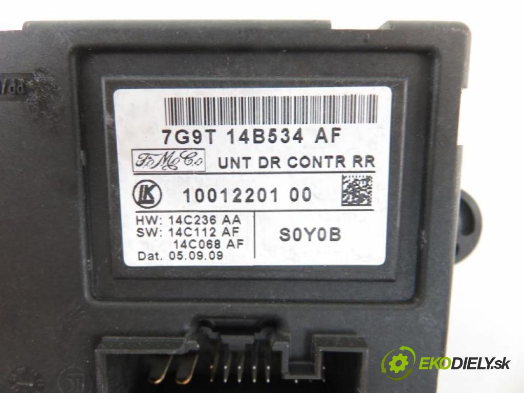 FORD MONDEO MK4 IV (BA7) 2.0 TDCI UFBA, QXBA, QXBB automatic 6 stupňová 103 kW 140 km  MODUL Dvere 7G9T14B534AF/1001220100 (Moduly komfortu)