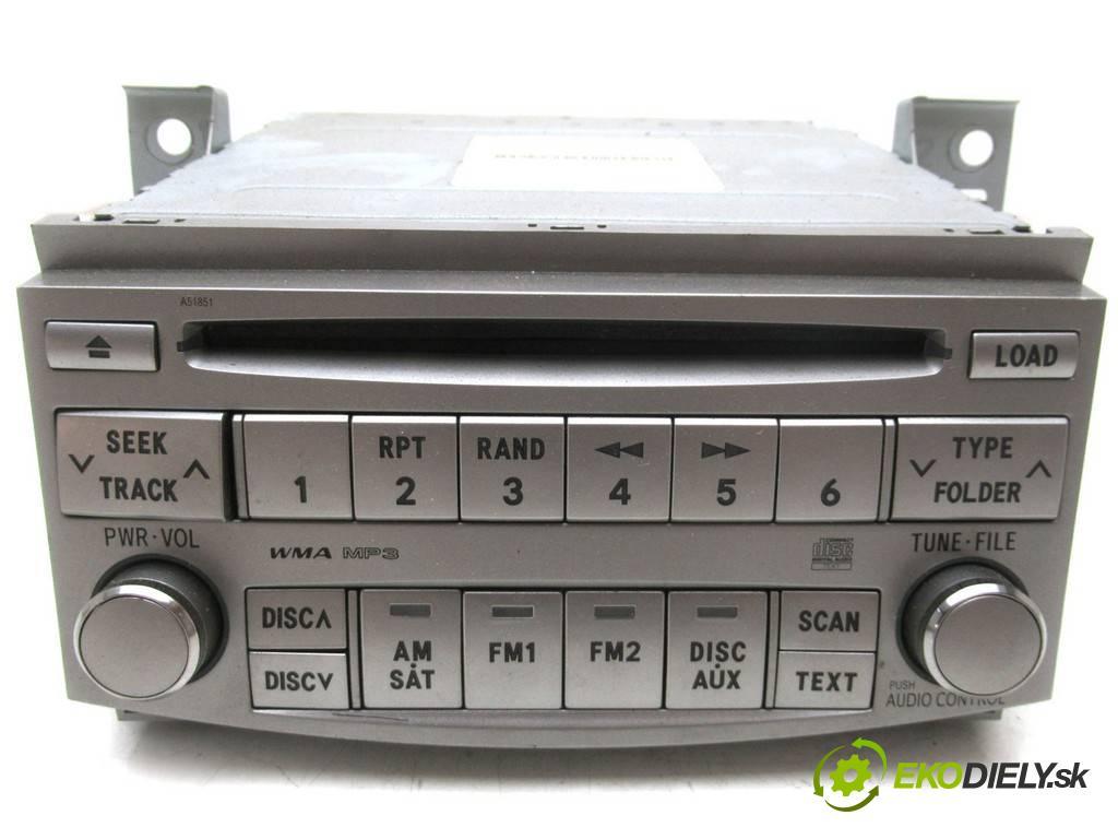Toyota Avalon  2007  X3 USA SEDAN 4D 3.5B 272KM 05-08 3500 RADIO 86120-07060 (Audio zariadenia)