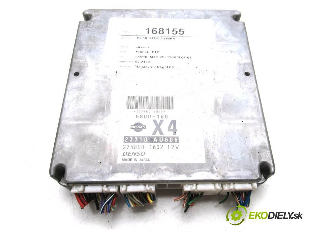 Nissan Primera P12  2002  KOMBI 5D 2.2Di 126KM 01-07 2200 riadiaca jednotka Motor 275800-1602 (Riadiace jednotky)