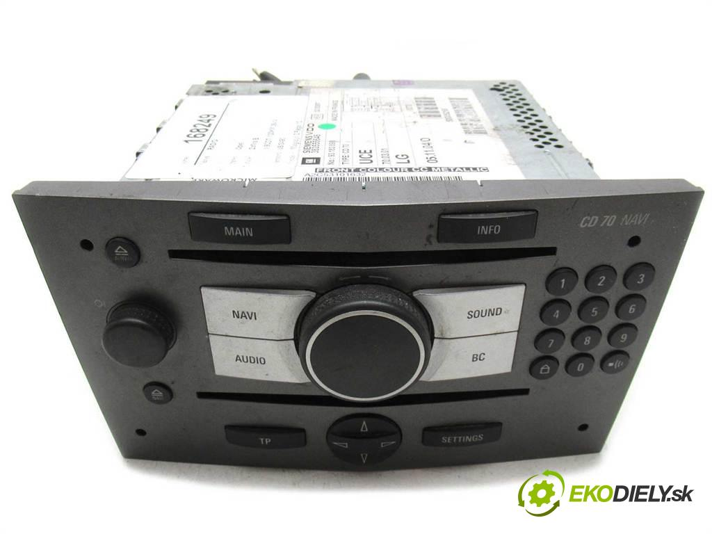 Opel Zafira B  2006  1.9CDTI 120KM 05-14 1900 RADIO 93183893 (Audio zariadenia)