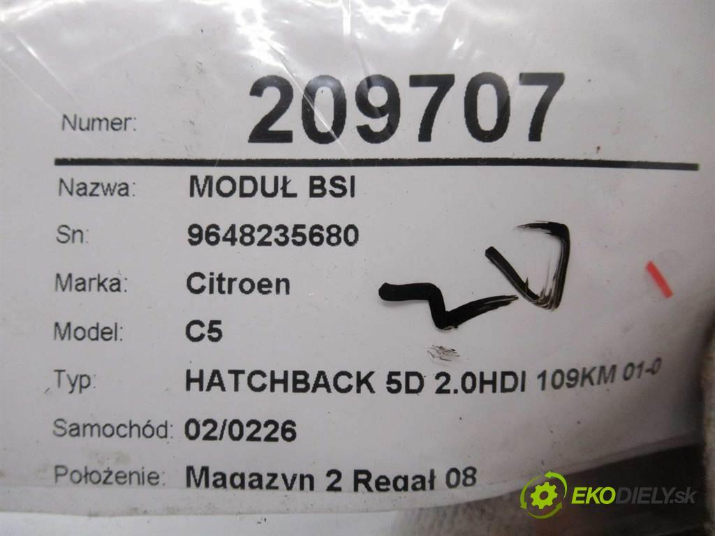 Citroen C5  2003  HATCHBACK 5D 2.0HDI 109KM 01-04 2000 Modul BSI 9648235680 (Poistkové skrinky)