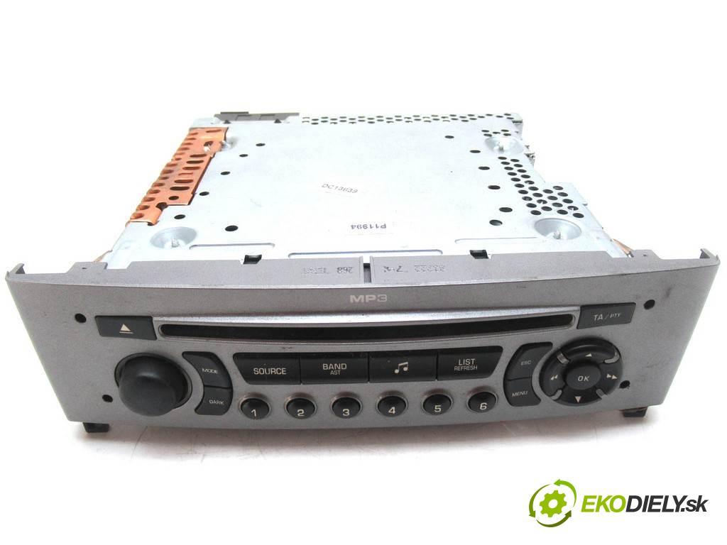 Peugeot 308  2007  HATCHBACK 5D 1.6HDI 90KM 07-13 1600 RADIO 96650206HX (Audio zariadenia)