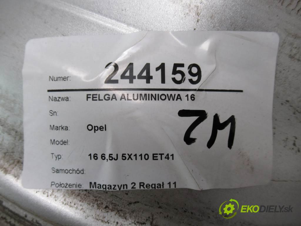 Opel     16 6,5J 5X110 ET41  disk - 16  (Hliníkové)