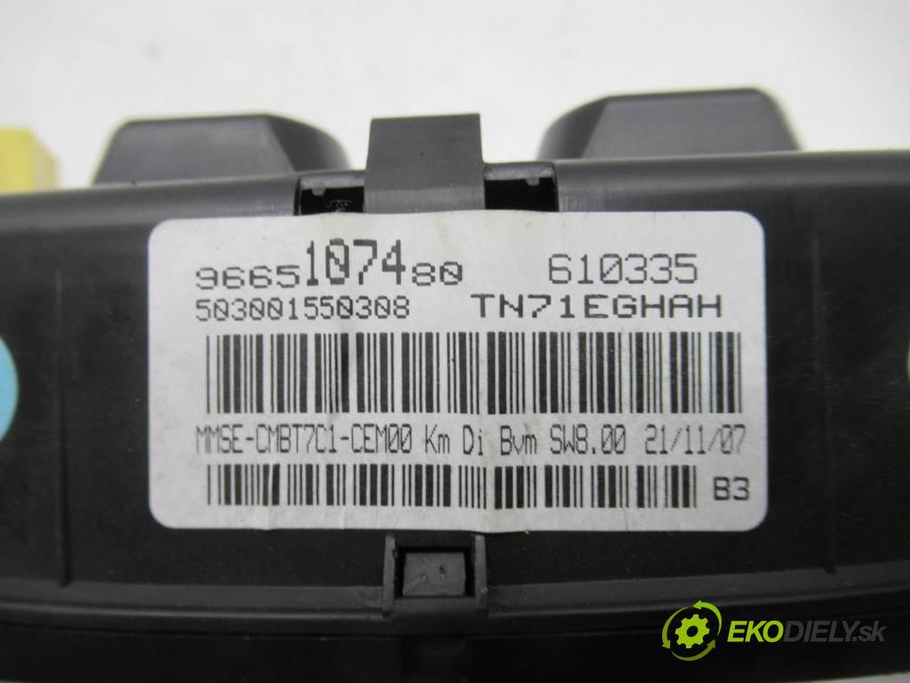 Peugeot 308 LIFT  2008 66,20 KOMBI 5D 1.6HDI 90KM 07-13 1600 Prístrojovka 9665107480 (Prístrojové dosky, displeje)