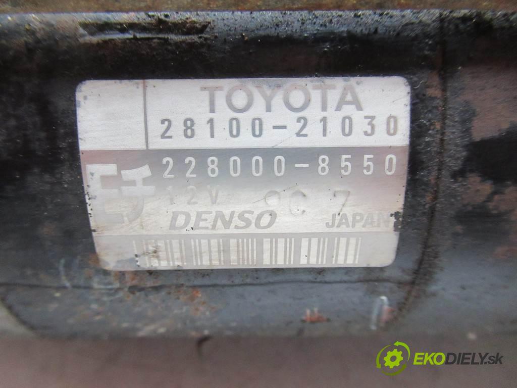 Toyota Yaris  2001 63kW HATCHBACK 3D 1.3VVTI 86KM 99-05 1300 Štartér 28100-21030 (Štartéry)
